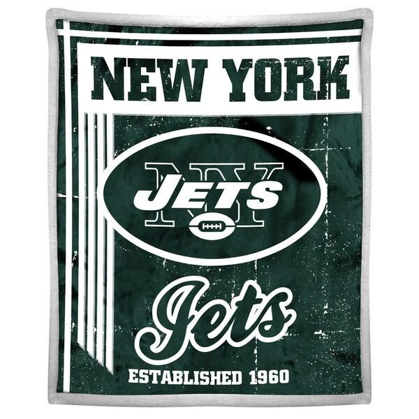 NFL 192 Jets Mink Sherpa Throw