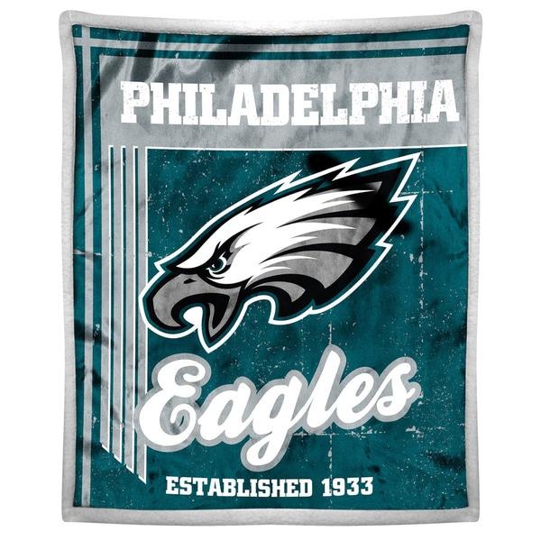 NFL 192 Eagles Mink Sherpa Throw