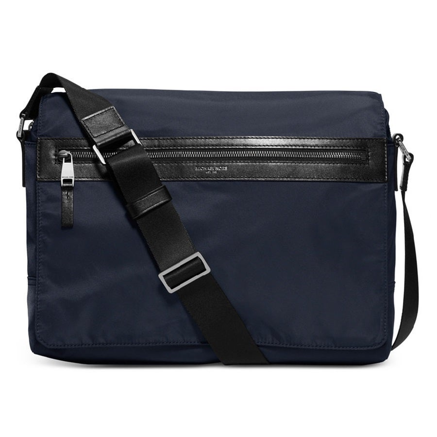 Michael Kors Kent Nylon Large Messenger Indigo