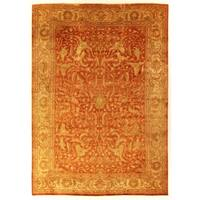 Exquisite Rugs Sultanabad Rust New Zealand Wool Rug - 4' x 6'