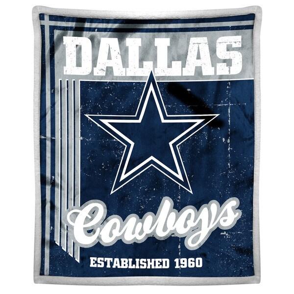 NFL 192 Cowboys Mink Sherpa Throw