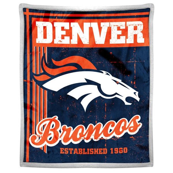 NFL 192 Broncos Mink Sherpa Throw