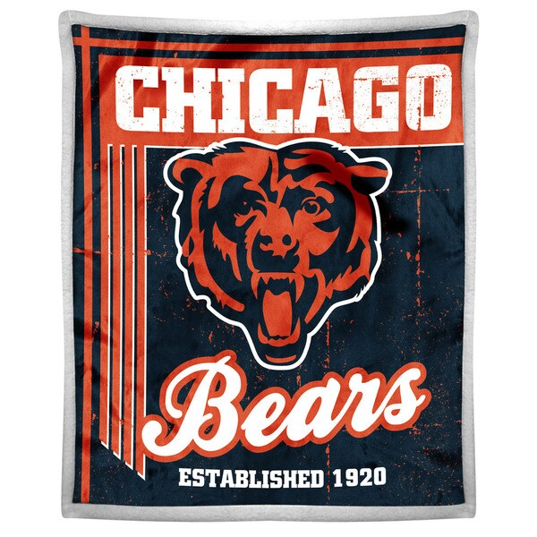 NFL 192 Bears Mink Sherpa Throw