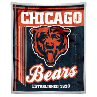 NFL 192 Bears Mink Sherpa Throw