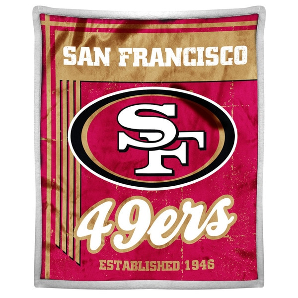 NFL 192 49ers Mink Sherpa Throw