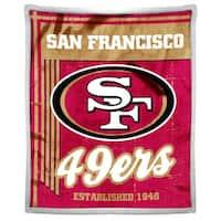 NFL 192 49ers Mink Sherpa Throw