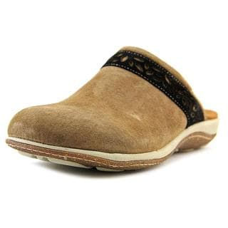 Acorn Women's Vista Clog Brown Faux Suede Casual Slide Shoes