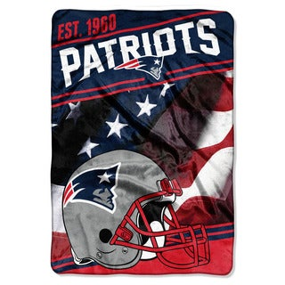 NFL 076 Patriots Stagger Micro Oversize Throw