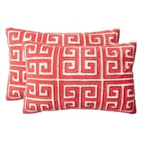 Safavieh Chy Satin Red Pillow (Set of 2)