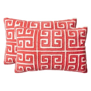 Safavieh Chy Satin Red Decorative Pillow (Set of 2)