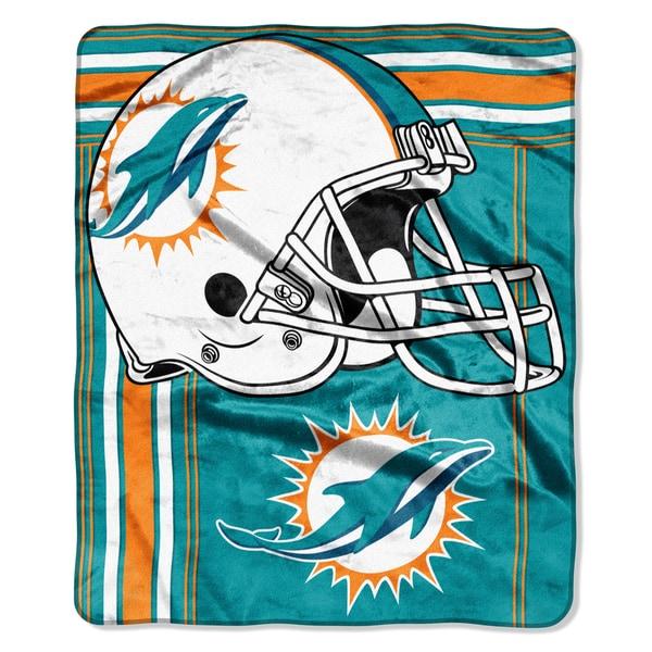 NFL 07083 Dolphins Touchback Raschel Throw