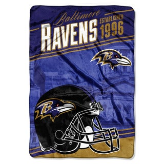 NFL 076 Ravens Stagger Micro Oversize Throw