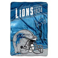 NFL 076 Lions Stagger Micro Oversize Throw