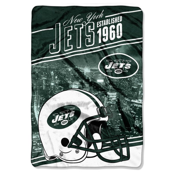 NFL 076 Jets Stagger Micro Oversize Throw