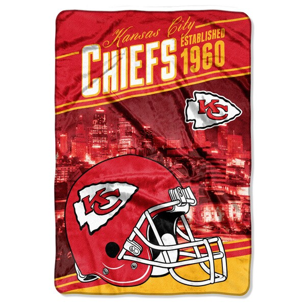 NFL 076 Chiefs Stagger Micro Oversize Throw