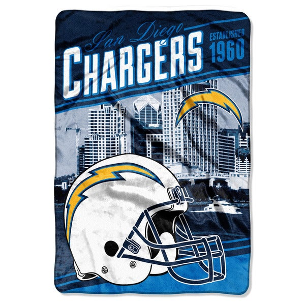 NFL 076 Chargers Stagger Micro Oversize Throw