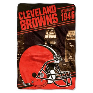 NFL 076 Browns Stagger Micro Oversize Throw
