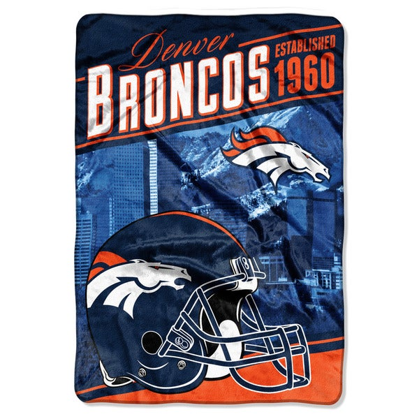 NFL 076 Broncos Stagger Micro Oversize Throw