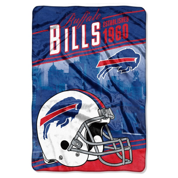 NFL 076 Bills Stagger Micro Raschel Oversize Throw