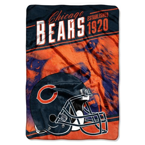NFL 076 Bears Stagger Micro Rashcel Oversize Throw