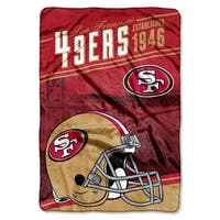 NFL 076 49ers Stagger Micro Oversize Throw