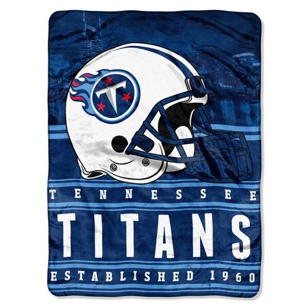 NFL 071 Titans Stacked Silk Touch Raschel Throw