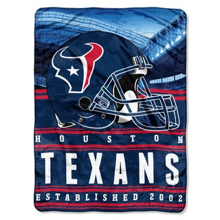 NFL 071 Texans Stacked Silk Touch Raschel Throw