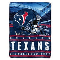 NFL 071 Texans Stacked Silk Touch Raschel Throw