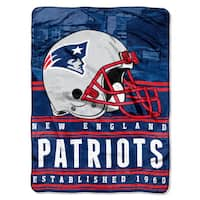 The Northwest Company NFL New England Patriots Stacked Silk Touch Raschel Throw