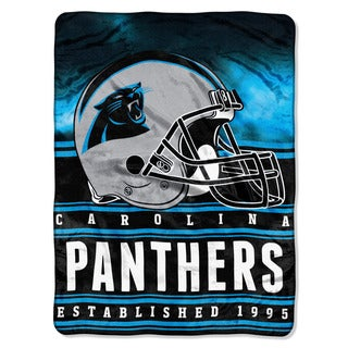 NFL 071 Panthers Stacked Silk Touch Raschel Throw