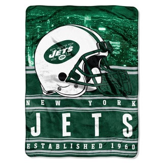 NFL 071 Jets Stacked Silk Touch Raschel Throw