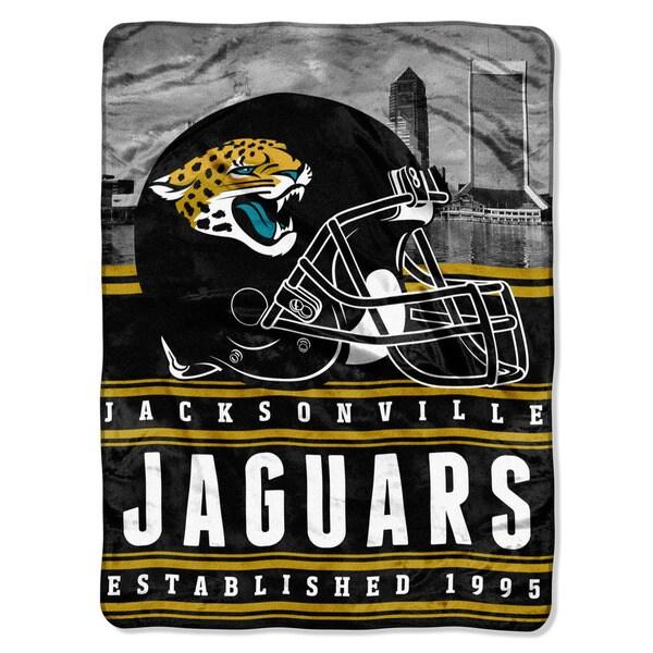 NFL 071 Jaguars Stacked Silk Touch Raschel Throw