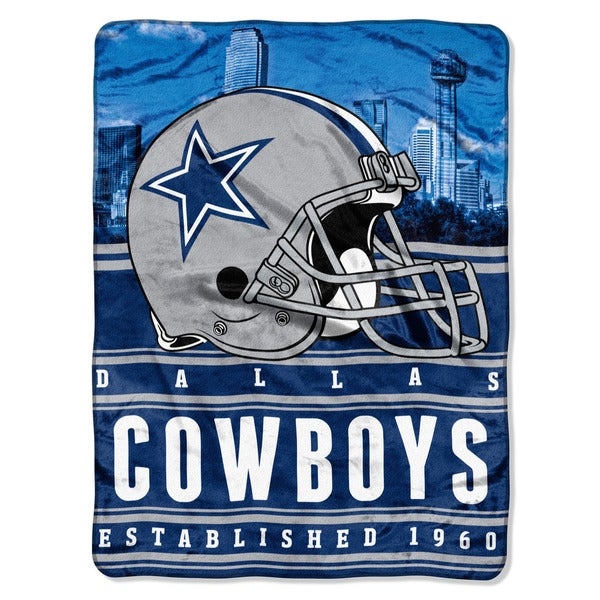 NFL 071 Cowboys Stacked Silk Touch Raschel Throw