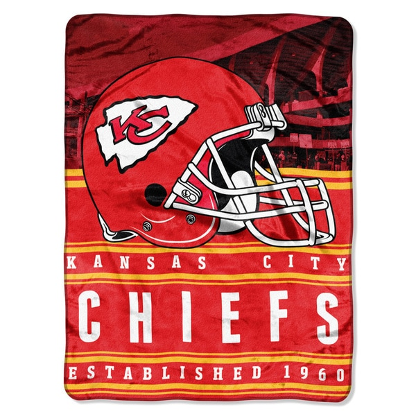 NFL 071 Chiefs Stacked Silk Touch Raschel Throw