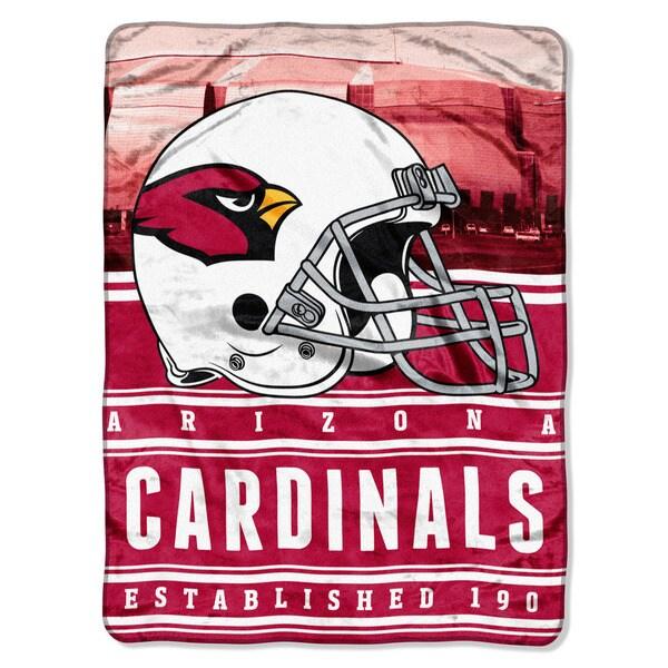 NFL 071 Cardinals Stacked Silk Touch Raschel Throw