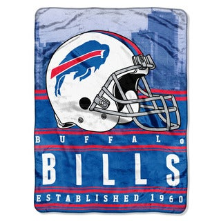 NFL 071 Bills Stacked Silk Touch Raschel Throw