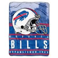 NFL 071 Bills Stacked Silk Touch Raschel Throw