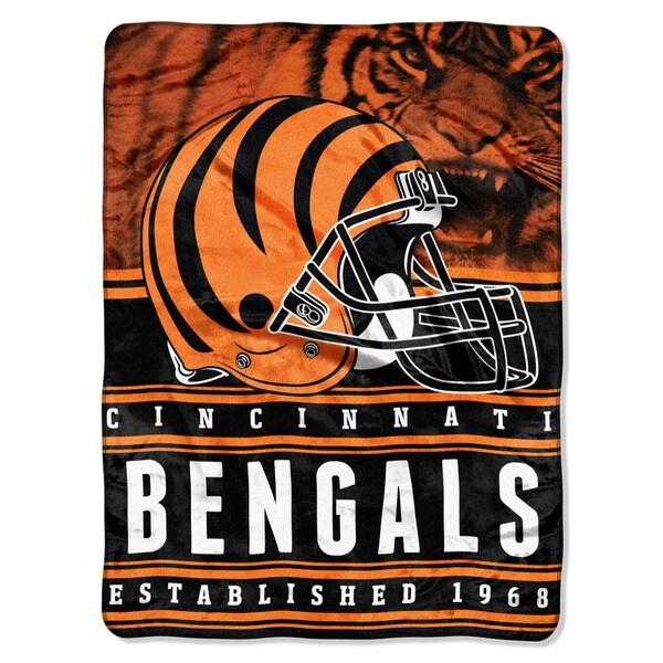 NFL 071 Bengals Stacked Silk Touch Raschel Throw