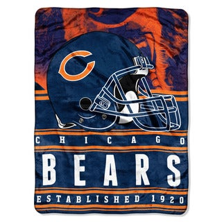 NFL 071 Bears Stacked Silk Touch Raschel Throw