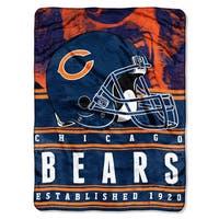 NFL 071 Bears Stacked Silk Touch Raschel Throw