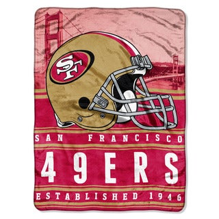 NFL 071 49ers Stacked Silk Touch Raschel Throw