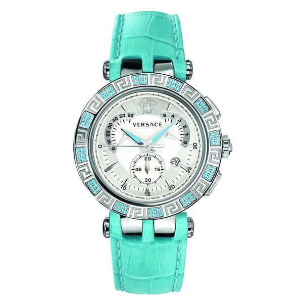 998abda2cbe Shop Versace Women s V-RACE CHRONO White Watch - Free Shipping Today ...