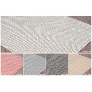 Black Wool Handmade Reversible Flatweave Rug (7' 6 x 9' 6)