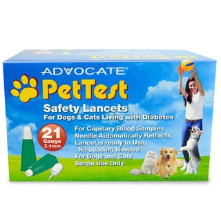 PetTest 21-gauge Safety Lancets (Case of 100)