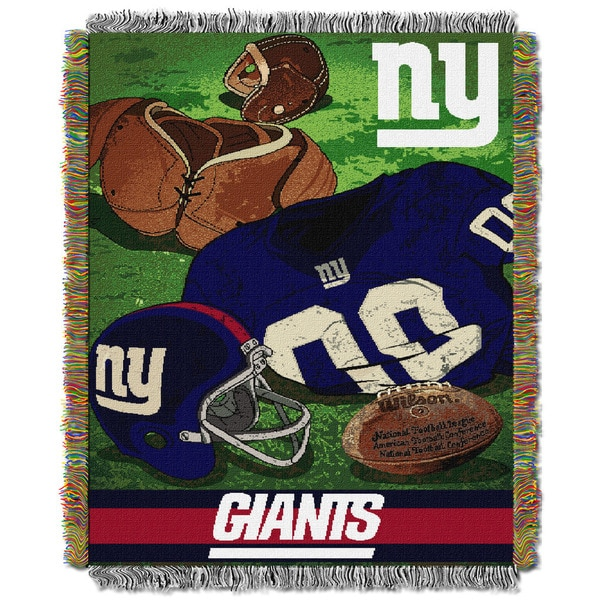 NFL 051 NY Giants Vintage Throw