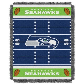 NFL 04401 Seahawks Field Baby Throw
