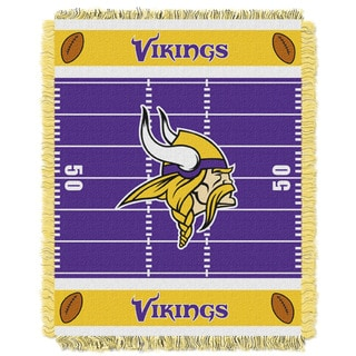 NFL 04401 Vikings Field Baby Throw