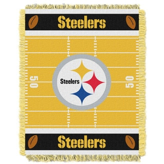 NFL 04401 Steelers Field Baby Throw