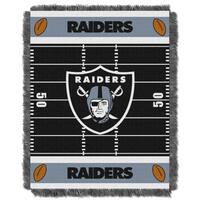 NFL 04401 Raiders Field Baby Throw
