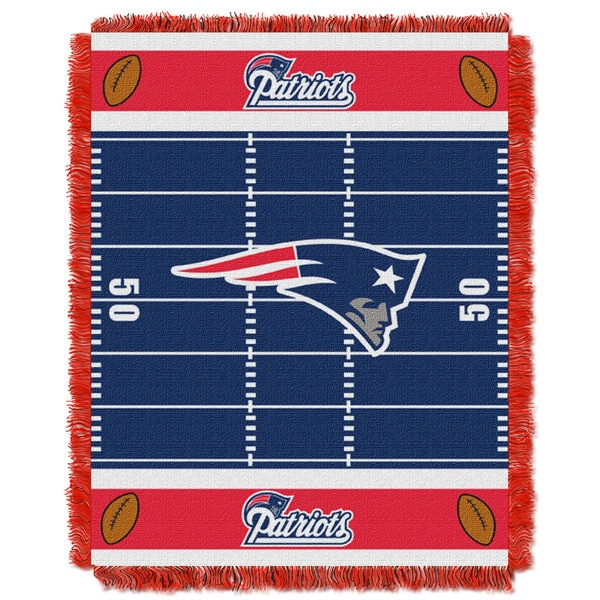 NFL 04401 New England Patriots Field Baby Throw